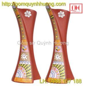 Lọ hoa Bát Tràng-Dáng nghệ thuật Ly cuốn
