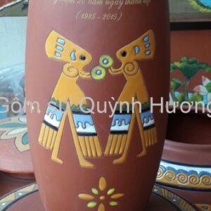Quà tặng gốm sứ, lọ hoa Bát Tràng in logo-4