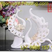 Thiên nga gốm sứ trắng quà tặng