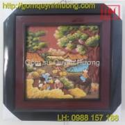 Tranh gốm Bát Tràng - Cảnh đồng quê 11