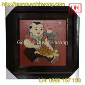 Tranh gốm Bát Tràng - VinhHoa-PhuQuy-Nhân Nghĩa-Lễ Trí