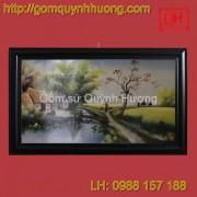 Tranh gốm sứ Bát Tràng - Cảnh đồng quê 5