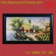 Tranh gốm sứ Bát Tràng - Cảnh đồng quê 6