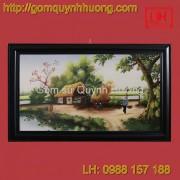 Tranh gốm sứ Bát Tràng - Cảnh đồng quê 7