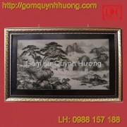 Tranh gốm sứ Bát Tràng - Sơn thủy cỡ đại 2
