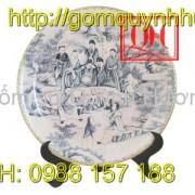 Gốm sứ Bát Tràng - Đĩa sứ trang trí số 2