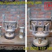 Đồ thờ cúng Bát Tràng - Lư hương men rạn 2