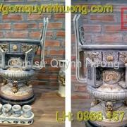 Đồ thờ cúng Bát Tràng - Lư hương men rạn 5