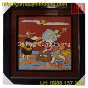 Tranh gốm Bát Tràng - Tranh trừu tượng 1