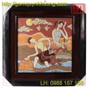 Tranh gốm Bát Tràng - Tranh trừu tượng 2