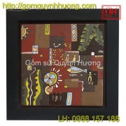 Tranh gốm Bát Tràng - Tranh trừu tượng 6