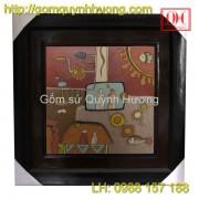 Tranh gốm Bát Tràng - Tranh trừu tượng 7
