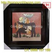 Tranh gốm Bát Tràng - Tranh trừu tượng 9