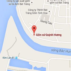 Bản đồ xưởng gốm Quỳnh Hương
