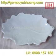 Bát đĩa Bát Tràng - Khay lá nho 25x18Cm