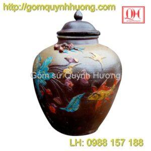 Chum gốm Bát Tràng - Cá chép hoa sen