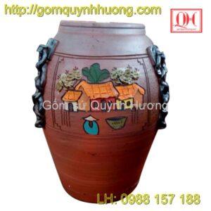 Chum gốm Bát Tràng - Chum trang trí cảnh quê 4