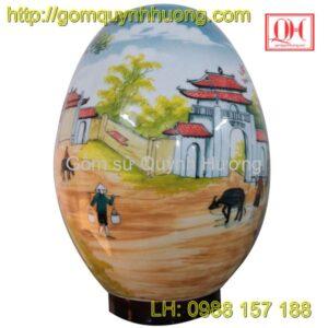 Đèn xông tinh dầu gốm sứ-Đèn trang trí-Cổng làng