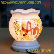 Đèn xông tinh dầu gốm sứ - Chữ An