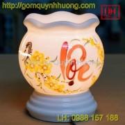 Đèn xông tinh dầu gốm sứ - Chữ Lộc