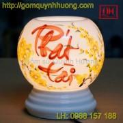 Đèn xông tinh dầu gốm sứ - Chữ Phát Tài