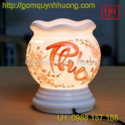 Đèn xông tinh dầu gốm sứ - Chữ phúc
