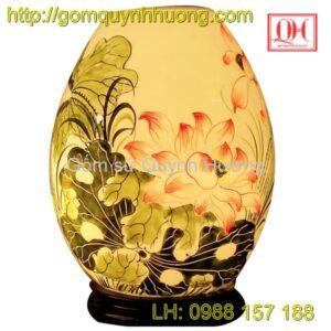 Đèn xông tinh dầu gốm sứ Bát Tràng-Đèn trang trí