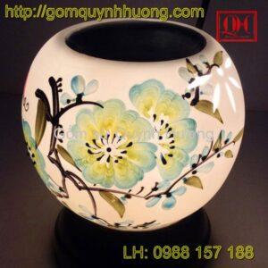 Đèn xông tinh dầu gốm sứ Bát Tràng vẽ hoa