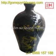 Nâm rượu gốm sứ Bát Tràng in logo mẫu 4