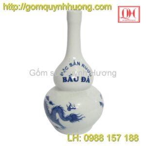 Nâm rượu gốm sứ Bát Tràng in logo mẫu 7