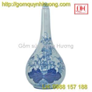 Nâm rượu gốm sứ Bát Tràng vẽ hoa sen mẫu 1