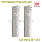 Lọ hoa sứ Bát Tràng men trắng 1