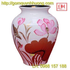 Lọ hoa Bát Tràng - Lọ hoa sơn mài dáng vò