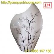 Bình hoa dáng vát gốm sứ Bát Tràng