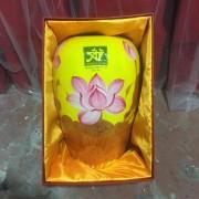 Lọ hoa gốm sứ Bát Tràng cao cấp in logo
