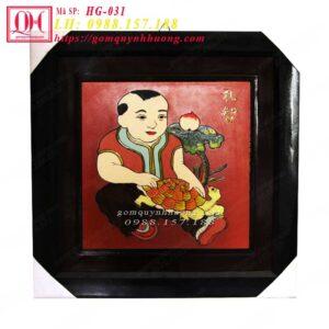 Tranh gốm Vinh Hoa – Phú Quý – Nhân Nghĩa – Lễ Trí HG-031