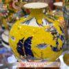 Bình tài lộc Bát Tràng cảnh Thuận Buồm Xuôi Gió nền màu vàng