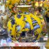 Bình tài lộc Bát Tràng màu vàng,Thuận Buồm Xuôi Gió