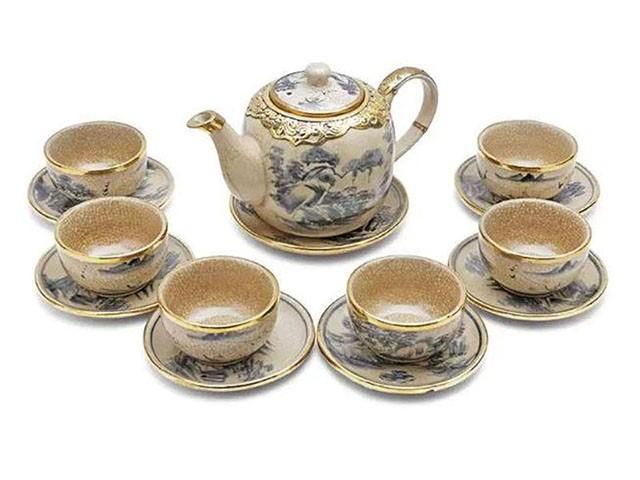 Ấm trà men rạn Bát Tràng
