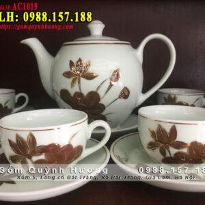 Bộ tách trà gốm sứ cao cấp của Bát Tràng