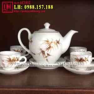 Bộ ấm trà bát tràng đẹp giá bao nhiêu