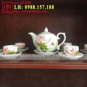 Bộ ấm trà cao cấp gốm sứ Bát Tràng