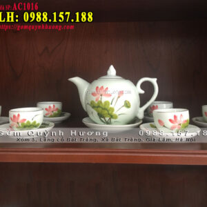 Bộ ấm trà cao cấp gốm sứ Quỳnh Hương