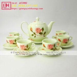 Bộ bình trà đẹp gốm sứ Bát Tràng AC1003