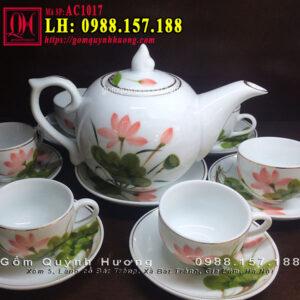 Bộ tách trà đẹp mã AC1017 Ấm chén Bát Tràng