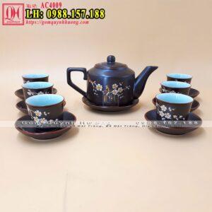Bộ ấm chén uống trà Bát Tràng