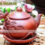 Ấm trà gốm đắp nổi Tùng - Tách trà giá rẻ Tp.HCM