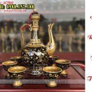 Bộ bình rót rượu gốm sứ đẹp - Gốm Quỳnh Hương