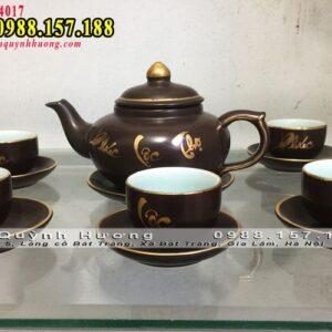 Bình trà gốm Bát Tràng 1
