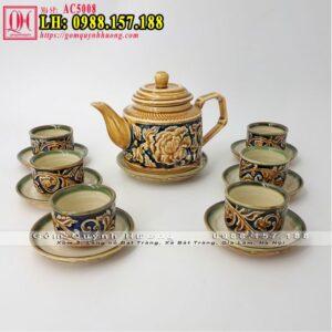 Bộ tách trà giá rẻ gốm Bát Tràng